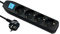 Удлинитель Electraline 62014 (1.5м, черный) -
