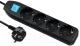 Удлинитель Electraline 62041 (3м, черный) -