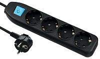 Удлинитель Electraline 62266 (5м, черный) -