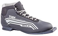 Ботинки для беговых лыж TREK Soul 4 (черный/серый, р-р 35) -