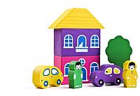 Конструктор Томик Цветной городок / 8688-2 (фиолетовый) -