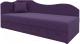 Тахта Mebelico 74 левый (микровельвет, фиолетовый) -