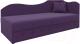 Тахта Mebelico 74 правый (микровельвет, фиолетовый) -