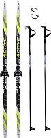 Комплект беговых лыж STC NN75 200/160 (желтый) -