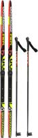 Комплект беговых лыж STC NN75 Step 150/110 (красный) -