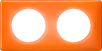 Рамка для выключателя Legrand Celiane 66652 (оранжевый муар) -