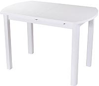 Обеденный стол Домотека Румба ПО 70x110-147 (белый/белый/04) -