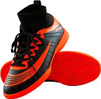 Бутсы футбольные Atemi SD100 Indoor (черный/оранжевый, р-р 34) -
