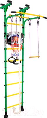 Детский спортивный комплекс Midzumi Hoshi Basketball Shield (зеленый/желтый)