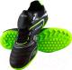 Бутсы футбольные Atemi SD300 TURF (черный/салатовый, р-р 45) -