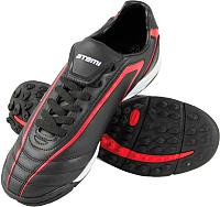 Бутсы футбольные Atemi SD500 TURF (черный/красный, р-р 43) -