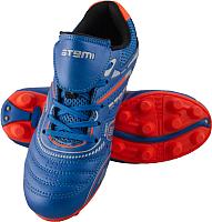 Бутсы футбольные Atemi SD300 MSR (голубой/оранжевый, р-р 30) -
