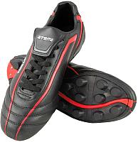 Бутсы футбольные Atemi SD500 MSR (черный/красный, р-р 31) -