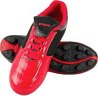 Бутсы футбольные Atemi SD803 MSR (красный/черный, р-р 33) -