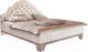 Двуспальная кровать Рэйгрупп Jakarta РГ-01 Л (ясень снежный/сосна натуральная) -