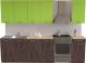 Готовая кухня Хоум Лайн Луиза 2.0 (флитвуд серая лава/зеленый лайм) -