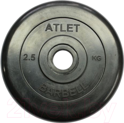 Диск для штанги MB Barbell Atlet d31мм 2.5кг