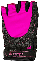 Перчатки для фитнеса Atemi AFG06P (L, черный/розовый) -