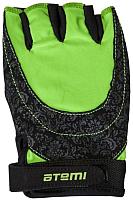 Перчатки для фитнеса Atemi AFG06GN (L, черный/зеленый) -