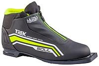 Ботинки для беговых лыж TREK Soul Comfort 1 NN75 (черный/лайм, р-р 38) -