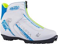 Ботинки для беговых лыж TREK Olympia 2 NNN (белый/синий, р-р 33) -