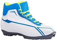 Ботинки для беговых лыж TREK Sportiks 5 NNN (белый/синий, р-р 34) -
