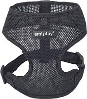 Шлея-жилетка для животных Ami Play Scout Air (M, черный) -