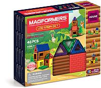 Конструктор магнитный Magformers Log Cabin Set / 705006 (48эл) -
