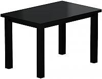 Обеденный стол Васанти Плюс ВС-24 120/160x80М (черный матовый) -