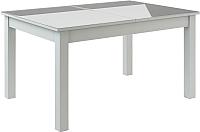 Обеденный стол Васанти Плюс ВС-39 110/150x70 (белый глянец) -