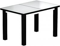 Обеденный стол Васанти Плюс ВС-52 110/150x70М (белый матовый/черный) -