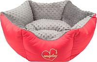 Лежанка для животных Ami Play Babydoll Корона (M, серый) -