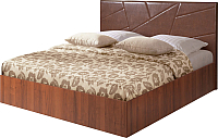Полуторная кровать Мебель-Парк Аврора 7 200x140 (темный) -