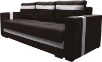 Диван Lama мебель Пингвин-3ТП (Vital Chocolate/Teos Canvas) -