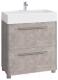 Тумба под умывальник Belux Берн Н80-02 (31, бетон чикаго/светло-серый) -