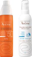 Набор косметики для тела Avene Спрей солнцезащ. SPF50 200мл+крем-гель восстан. 200мл -