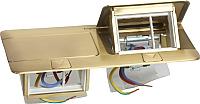 Блок розеточный Legrand 54017 (латунь) -