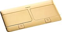 Блок розеточный Legrand 54018 (латунь) -