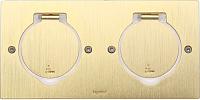 Блок розеточный Legrand 89712 (бронза) -
