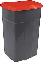 Контейнер для мусора Алеана 122062 (темно-серый/красный) -