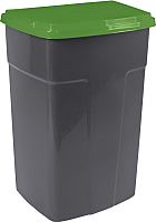 Контейнер для мусора Алеана 122062 (темно-серый/зеленый) -