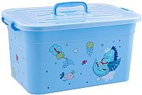 Ящик для хранения Полимербыт Радуга 81001 (бирюзовый) -