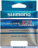Леска флюорокарбоновая Shimano Aspire Fluo Ice 0.145мм зимняя / ASFLRI3014 (30м) -