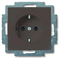Розетка ABB Basic 55 2011-0-6142 (шато-черный) -