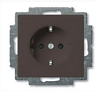 Розетка ABB Basic 55 2013-0-5338 (шато-черный) -