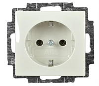 Розетка ABB Basic 55 2011-0-6144 (шале-белый) -