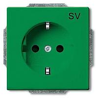 Розетка ABB Basic 55 2011-0-6152 (зеленый) -