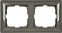 Рамка для выключателя ABB Basic 55 1725-0-1507 (шато-черный) -