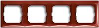 Рамка для выключателя ABB Basic 55 1725-0-1519 (красный) -