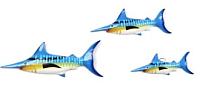 Декор настенный Мир Ротанга Рыбы (3шт) -